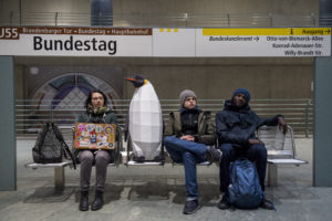 """March of the Penguins in Berlin""""March of the Penguins"""" in Berlin"""