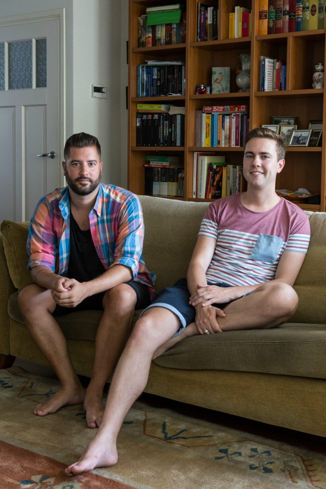 Twee jonge homo