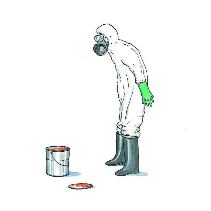 giftige verf CMYK