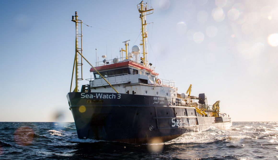The Sea-Watch 3 patrolling the Central Mediterranean Search and Rescue Zone; International Waters off Libya; 19/12/2018