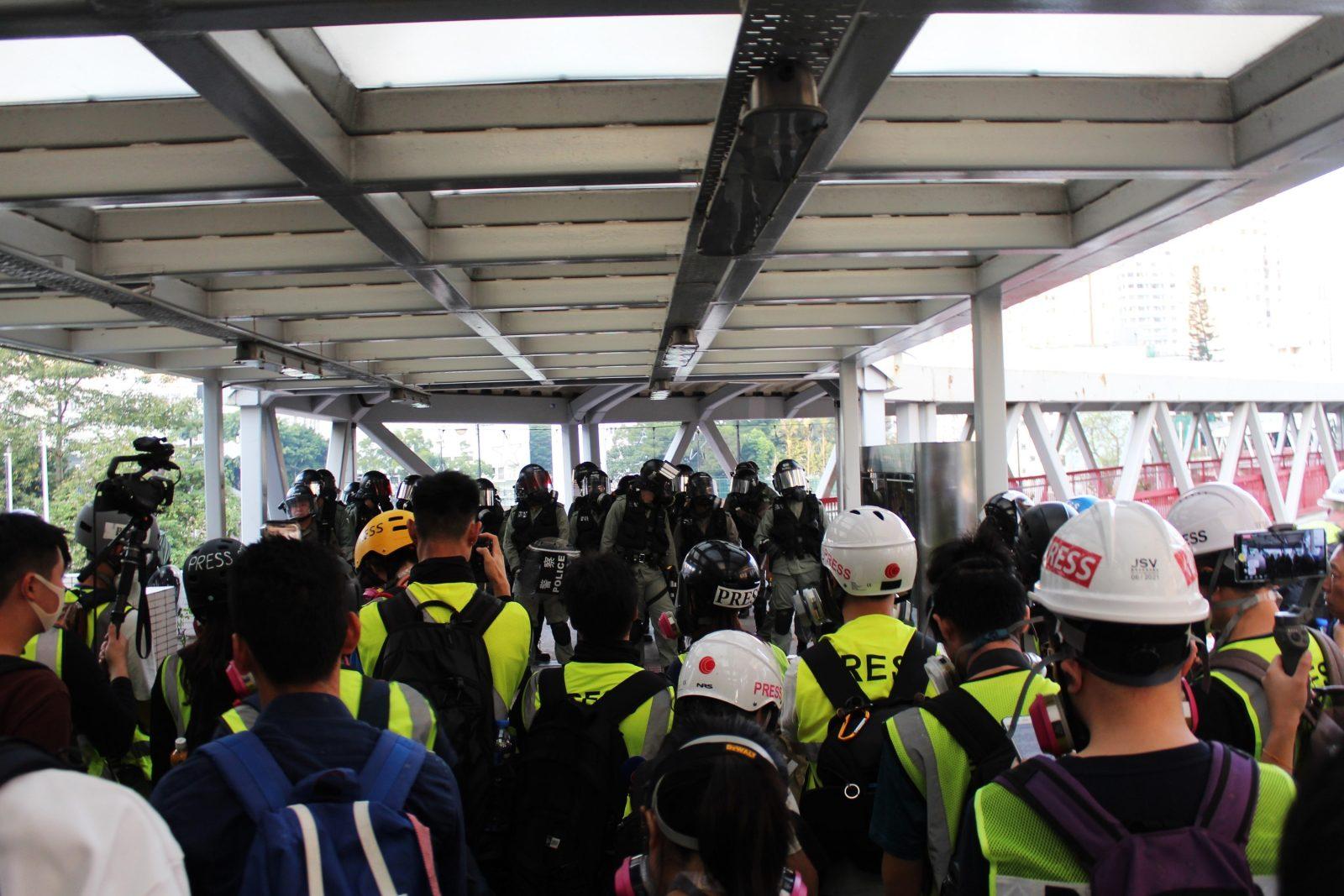 Pers bij protest in Hongkongse wijk Tsuen Wan – RvdK