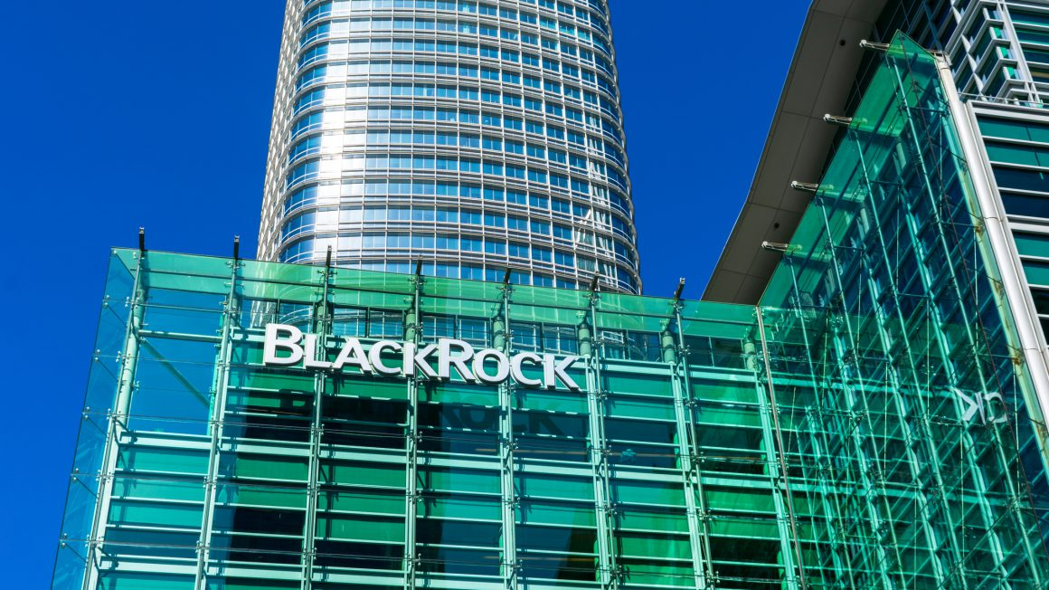 BlackRock financial investment management corporation office building in Silicon Valley – San Francisco, California, USA – 2020