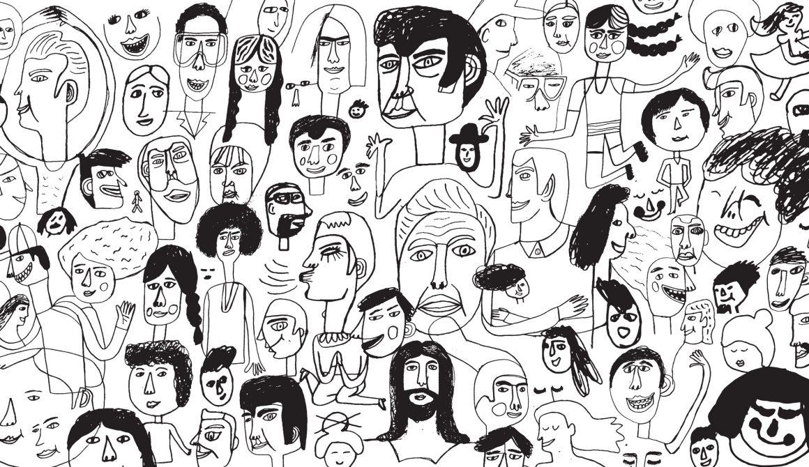 People pattern backround