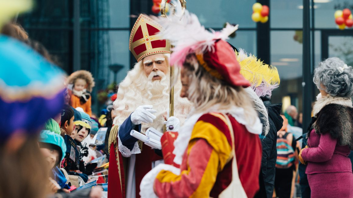 Sinterklaas arriving in Amsterdam