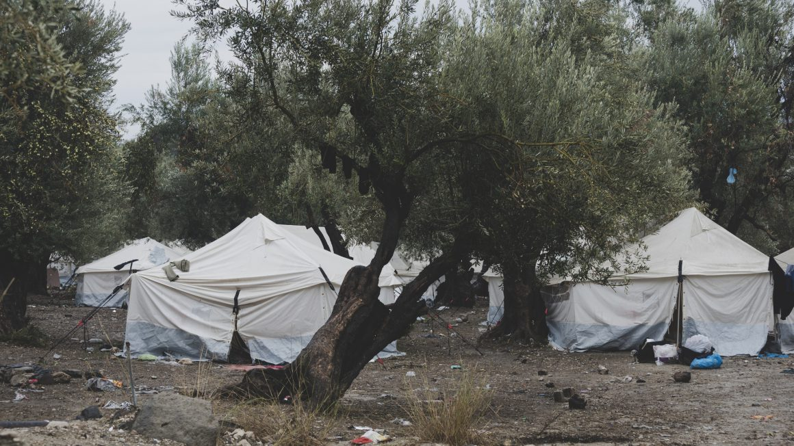 Refugee camp on Lesbos, Greece