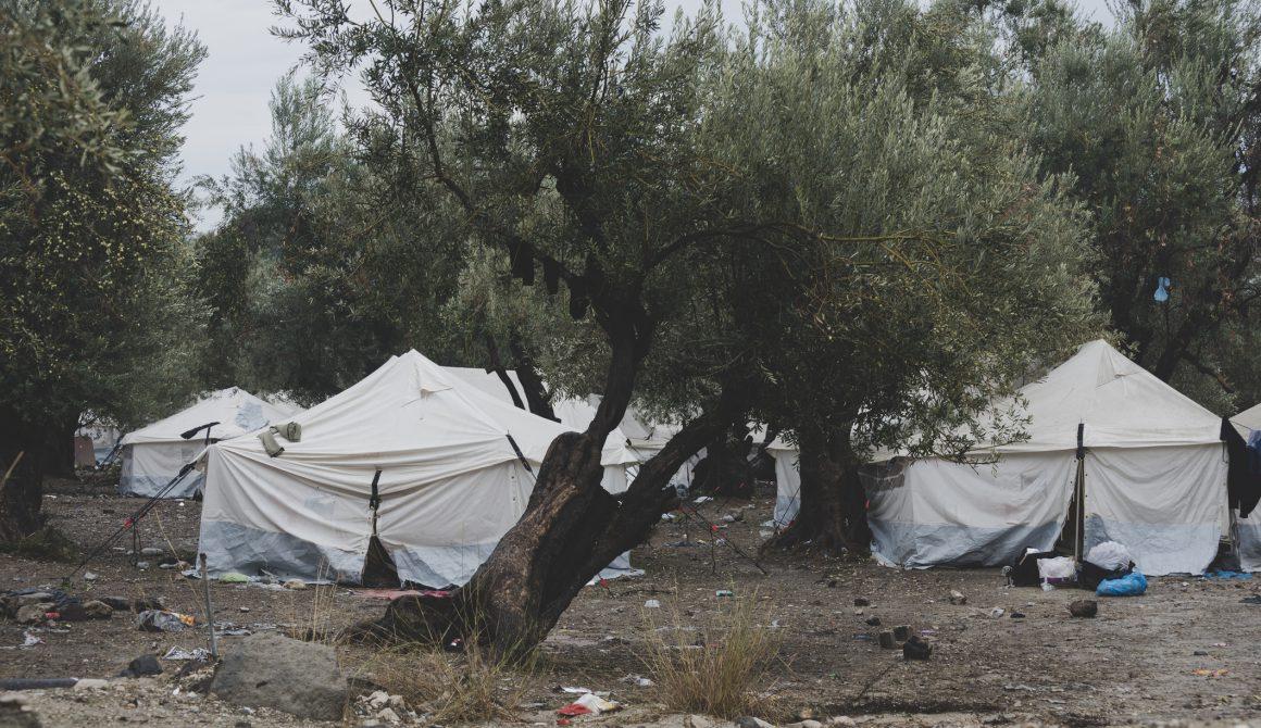Refugee camp on Lesbos, Greece