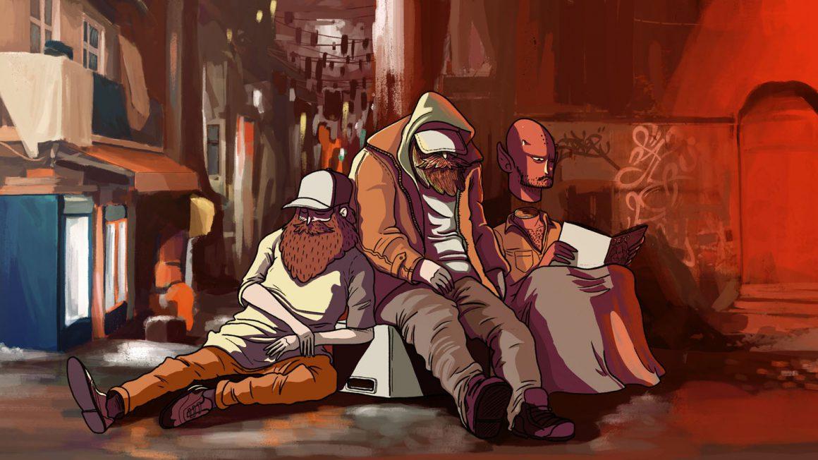 illustratie daklozen
