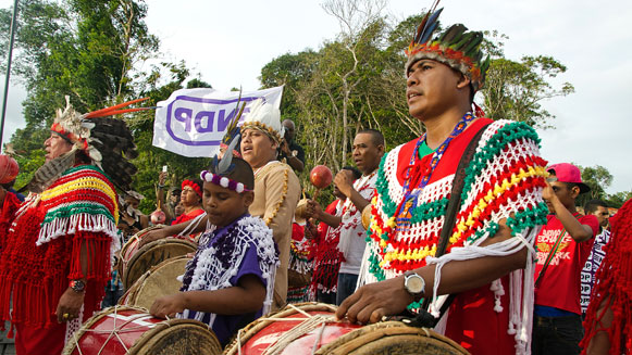 demonstratie-Inheemse-inwoners-Suriname